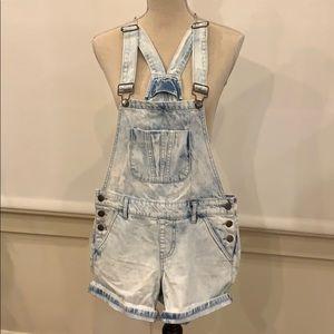 Forever 21 Denim Overall Shorts